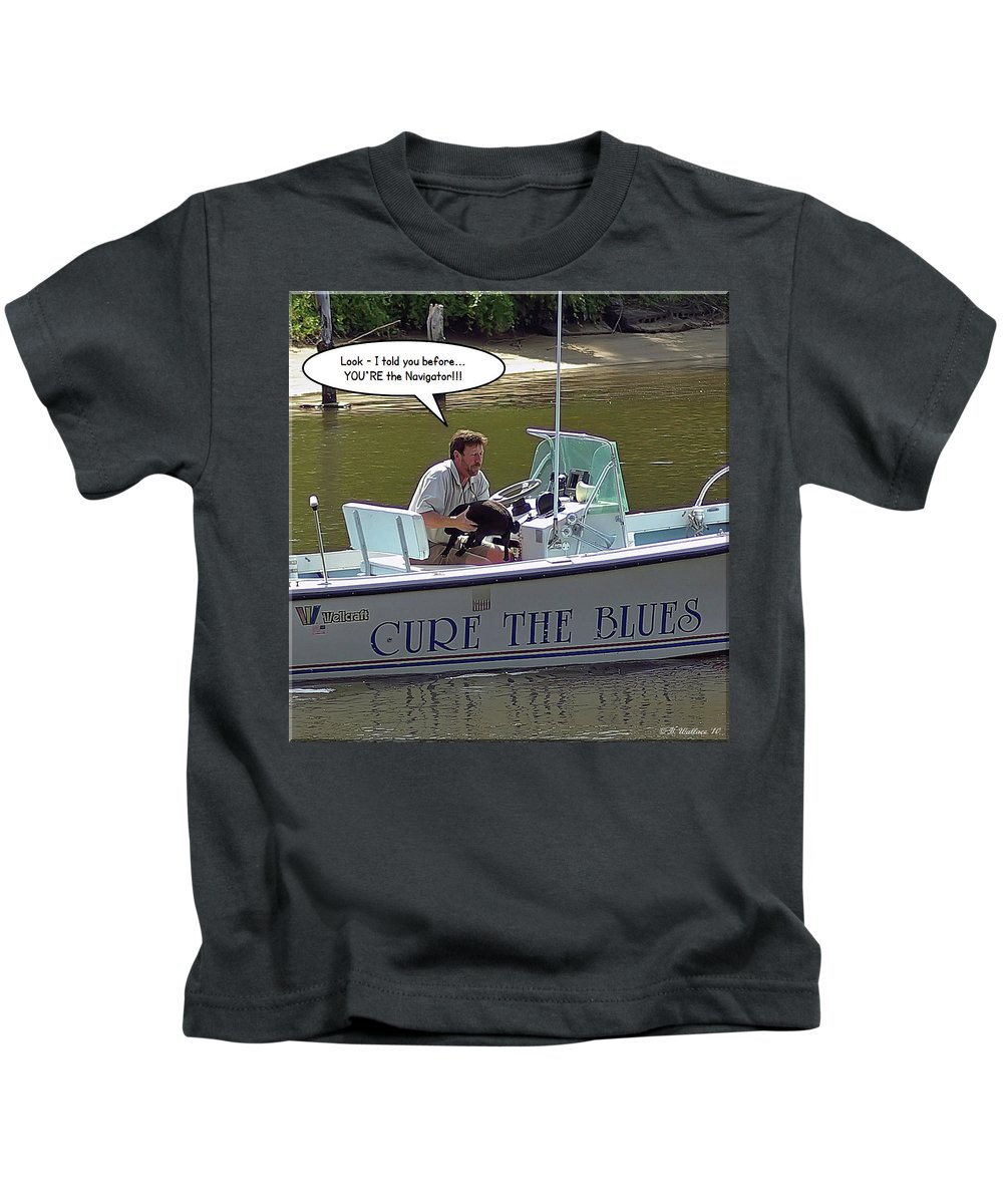 2d Kids T-Shirt featuring the photograph Navigator by Brian Wallace