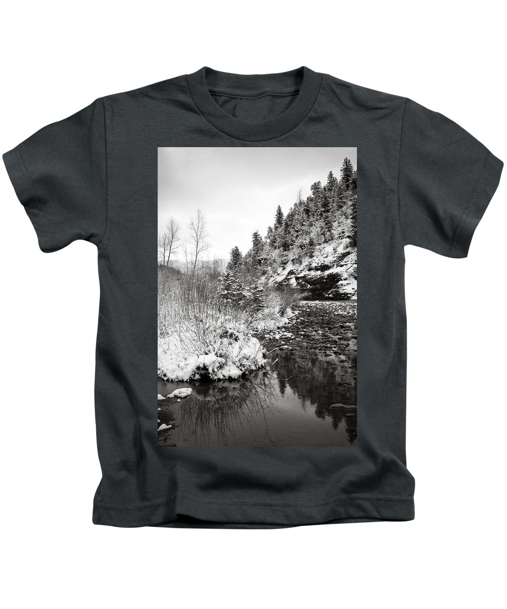 Winter Kids T-Shirt featuring the photograph Near Telluride Colorado by Marilyn Hunt