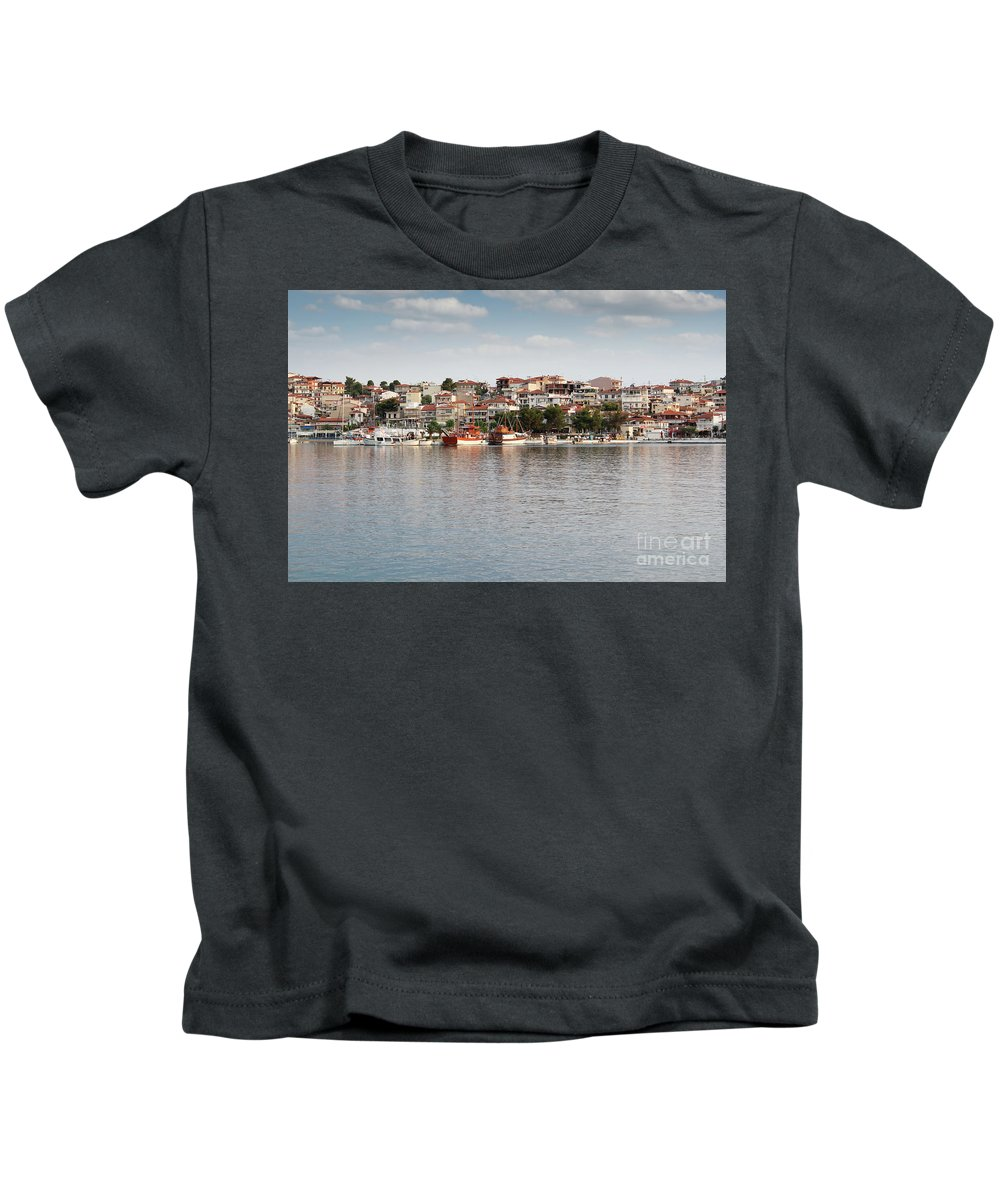 Neos Marmaras Kids T-Shirt featuring the photograph Neos Marmaras Greece Summer Vacation by Goce Risteski