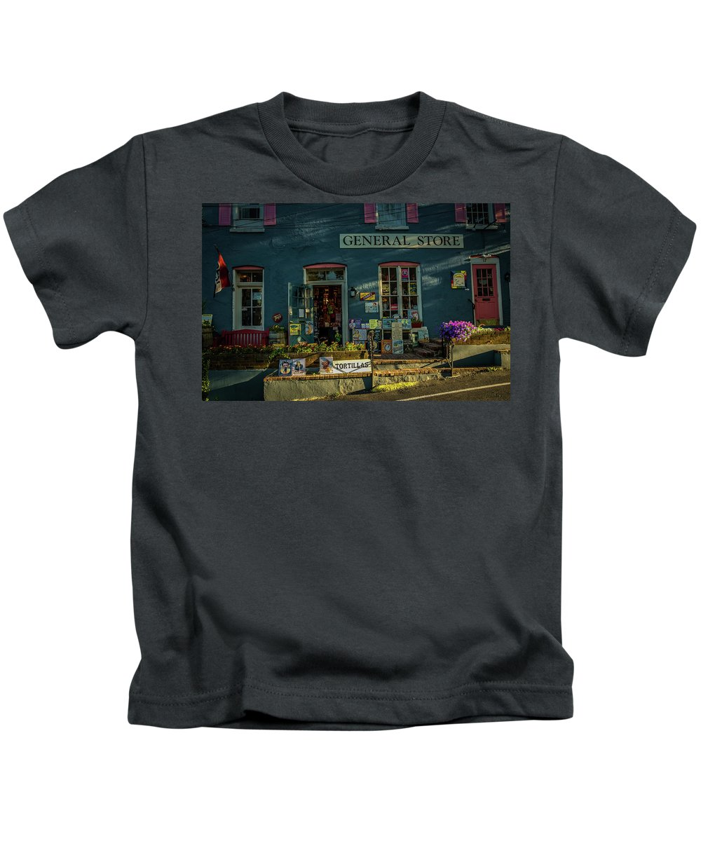 Americana Kids T-Shirt featuring the photograph New Hope General Store by George Sheldon