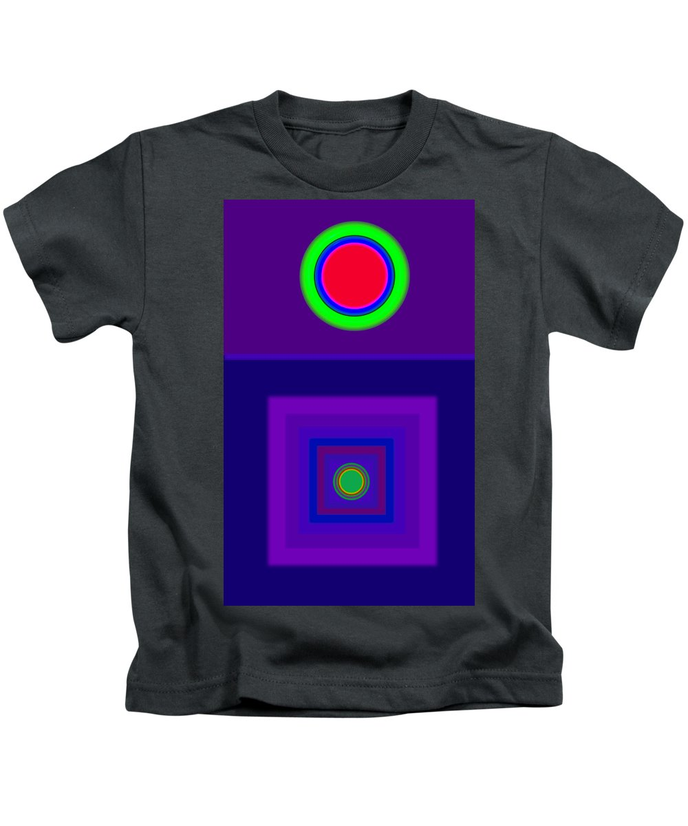 Classical Kids T-Shirt featuring the digital art New Violet by Charles Stuart