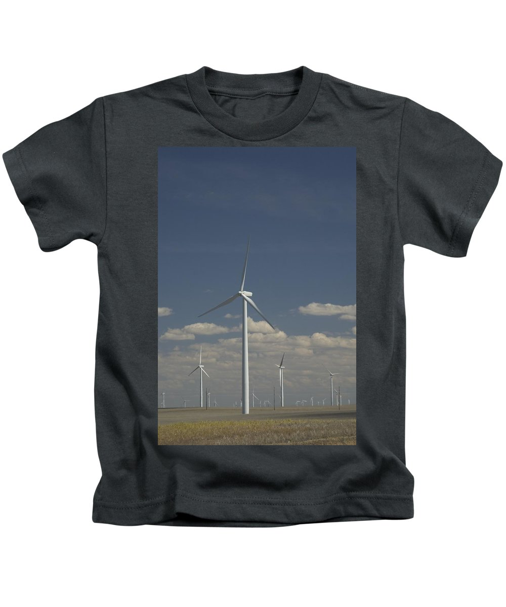 Windmill Kids T-Shirt featuring the photograph New Windmill by Sara Stevenson