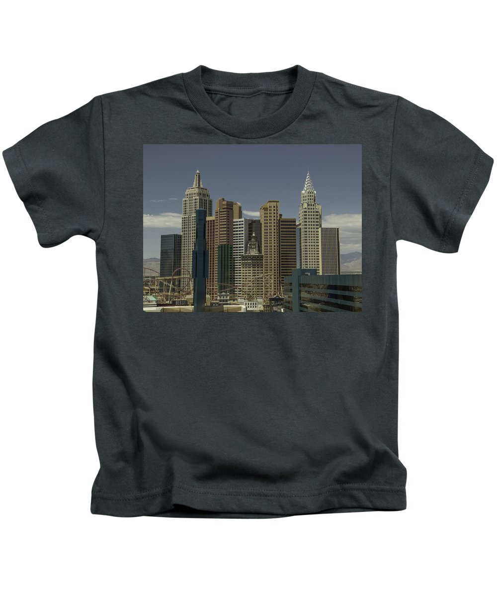2015 Kids T-Shirt featuring the photograph New York New York View 1 by Teresa Mucha
