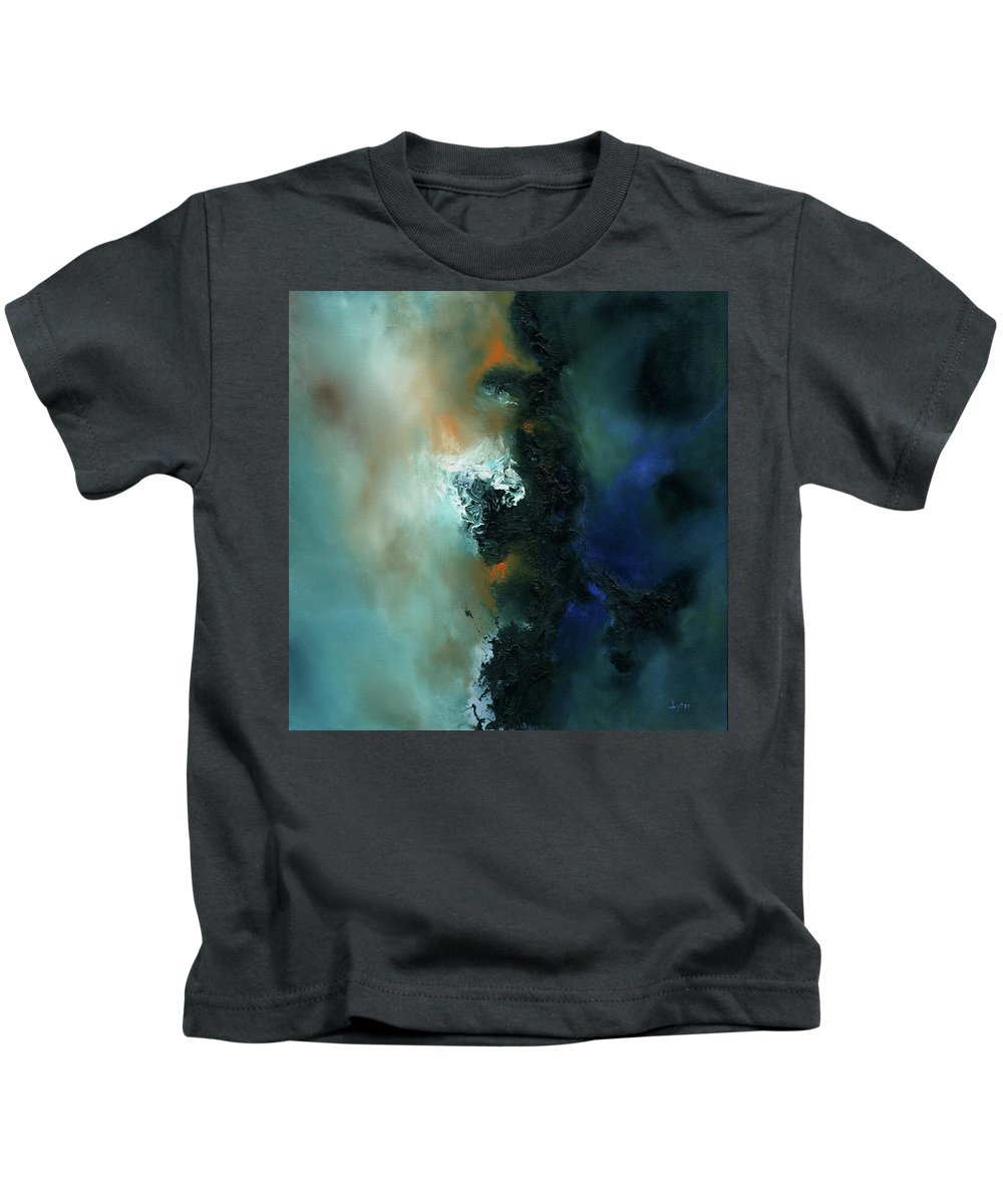 Abstract Kids T-Shirt featuring the painting Nexus by Christopher Lyter