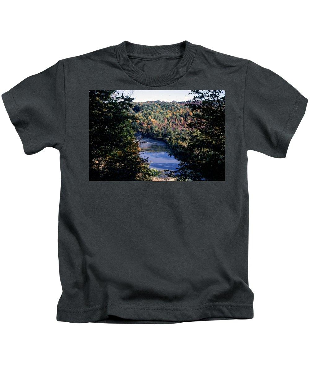 Niagara Falls Kids T-Shirt featuring the photograph Niagaratributary by Delbert Larkin