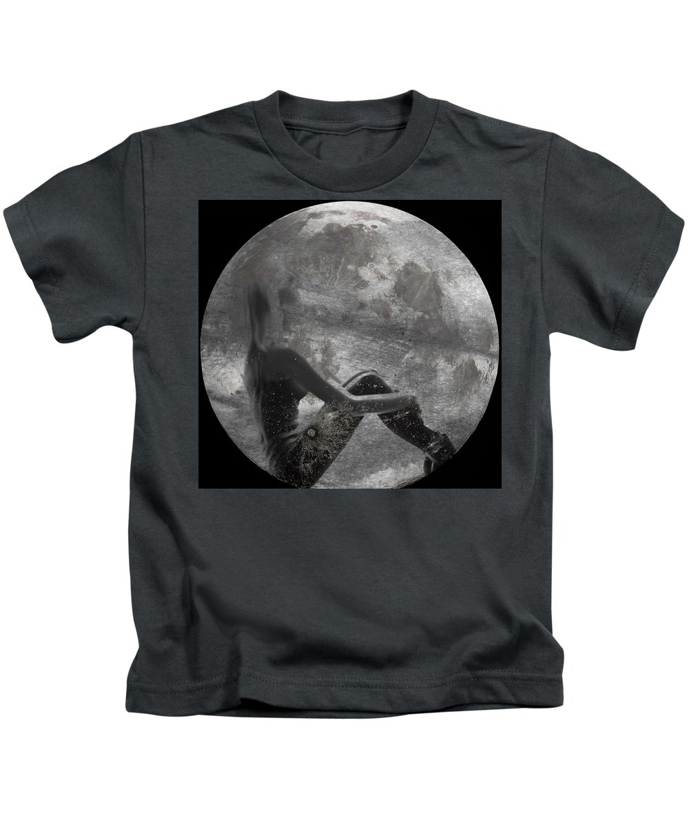 Night Kids T-Shirt featuring the photograph Night Hope V4 by Alex Art and Photo