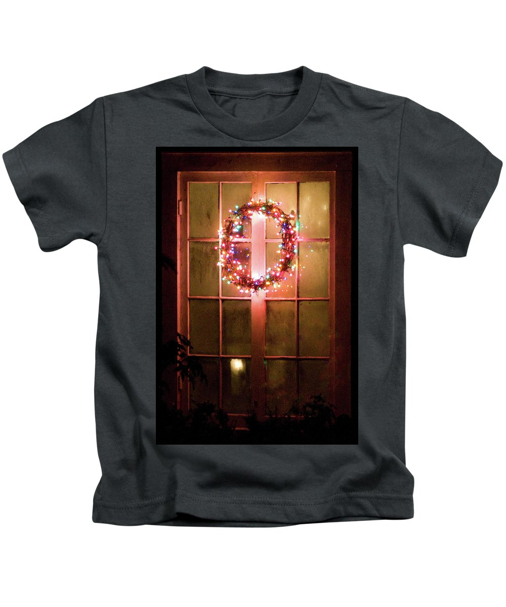 Wreath Kids T-Shirt featuring the photograph Night Wreath by David Arment