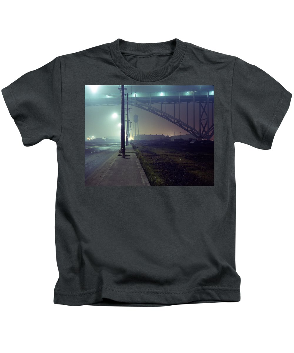 Night Photo Kids T-Shirt featuring the photograph Nightscape 2 by Lee Santa