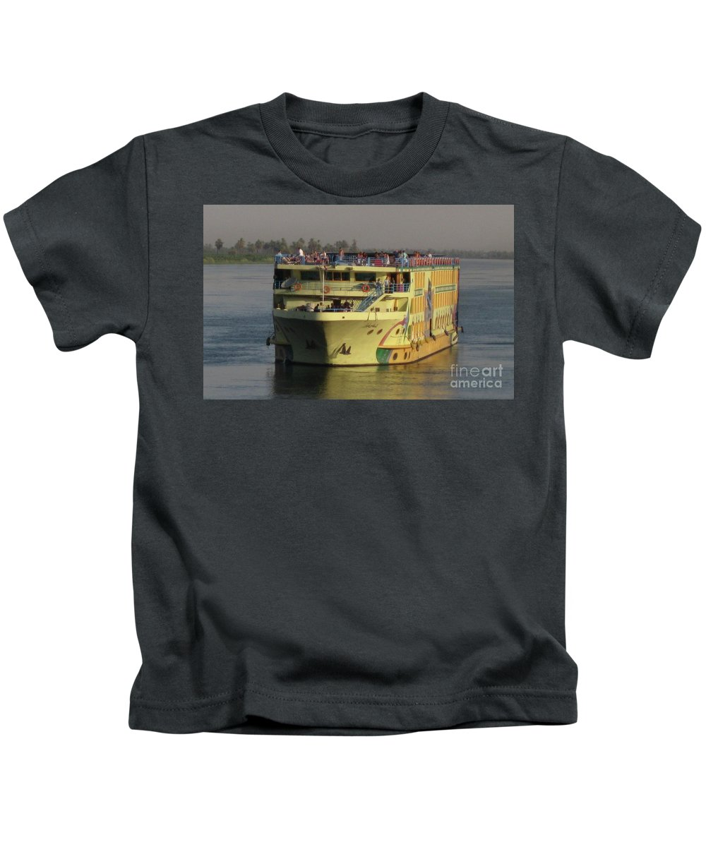 Cruise Ship Kids T-Shirt featuring the photograph Nile Cruise Ship by John Malone