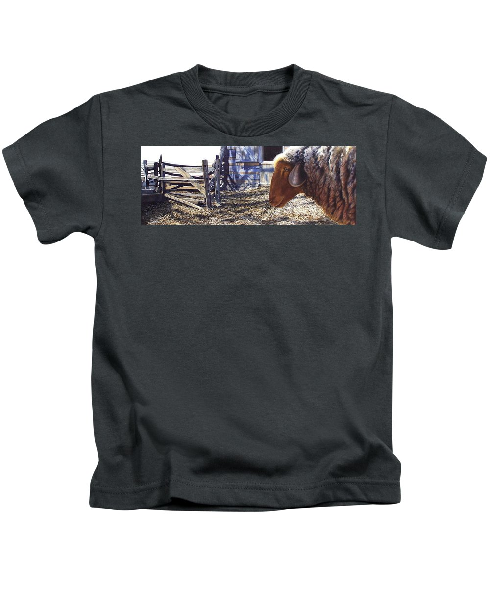 Farm Kids T-Shirt featuring the painting No Place Like Home by Denny Bond