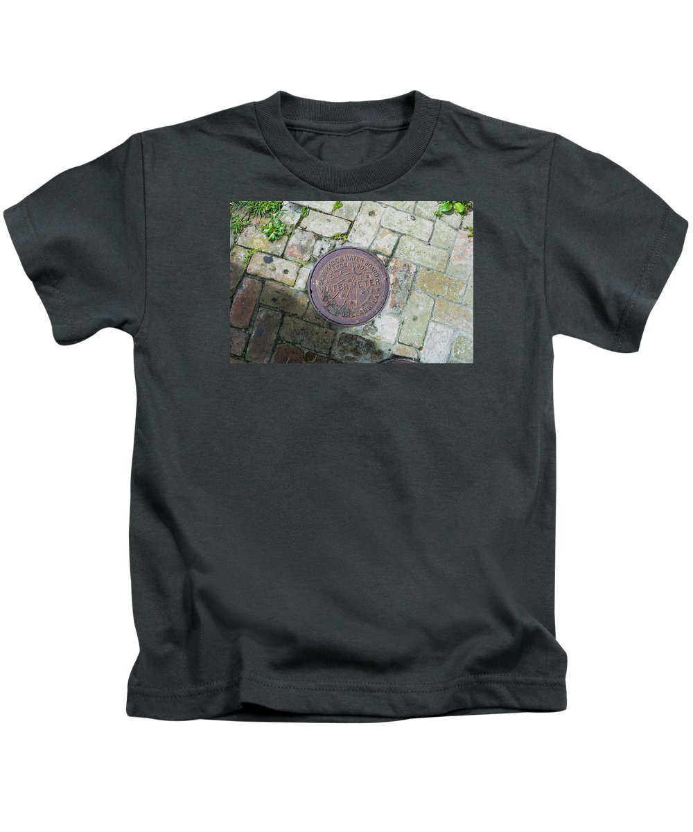 Brick Kids T-Shirt featuring the photograph Nola Watermeter by My NOLA Eye