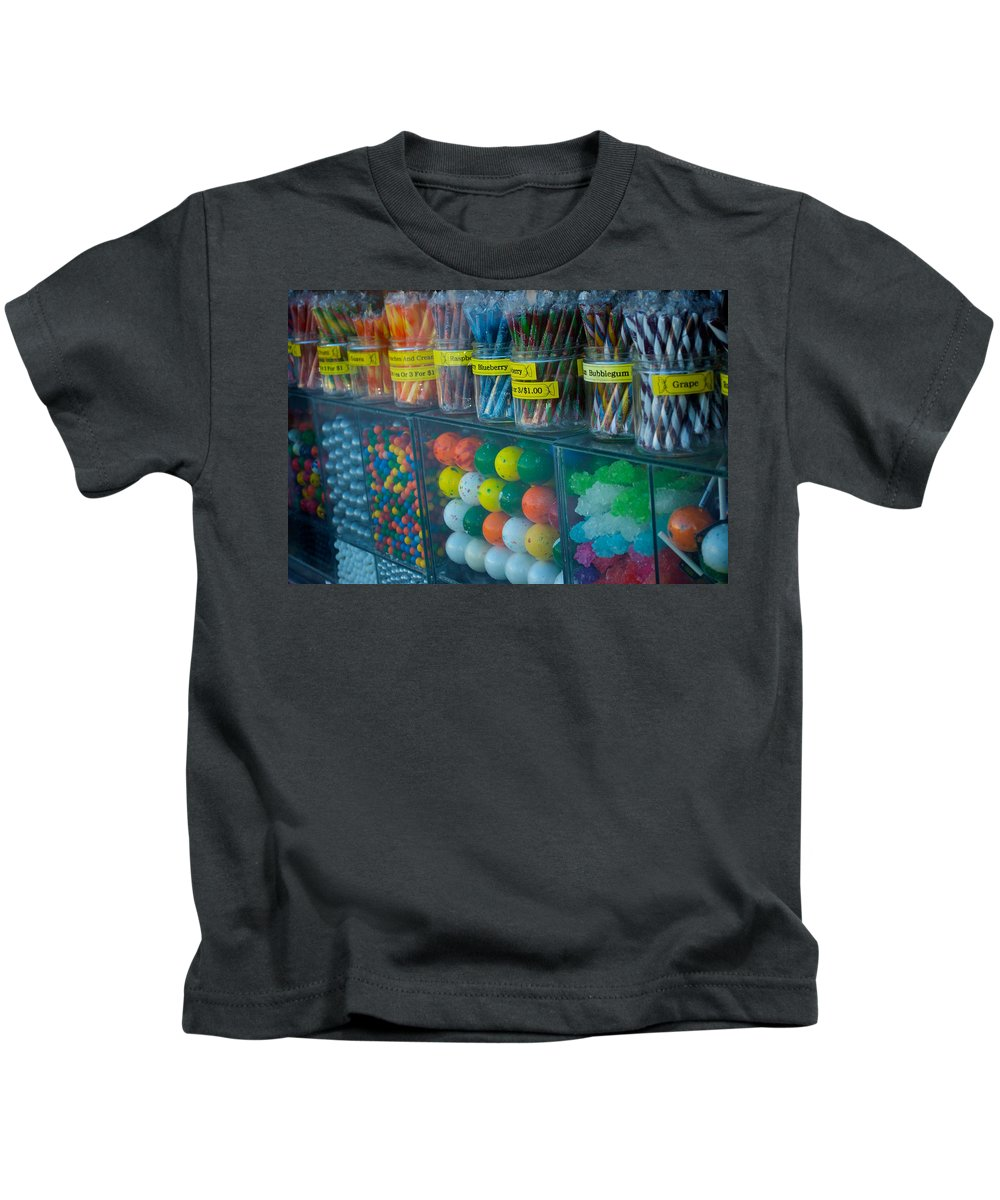 Candy Kids T-Shirt featuring the photograph Nose Pressed Against The Glass by Lisa Knechtel