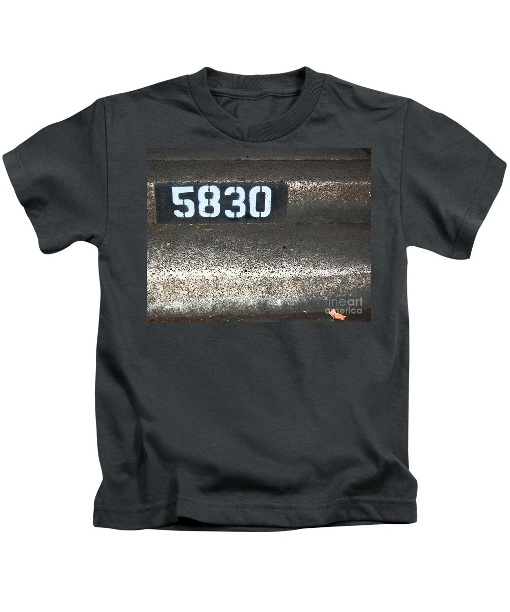 Numbers Kids T-Shirt featuring the photograph Numbers by Debbi Granruth