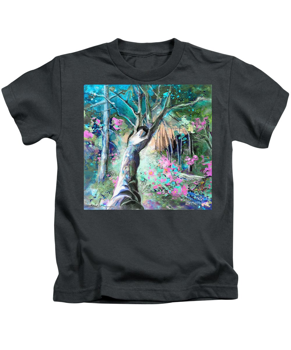 Fantasy Kids T-Shirt featuring the painting Nun Of The Above by Miki De Goodaboom
