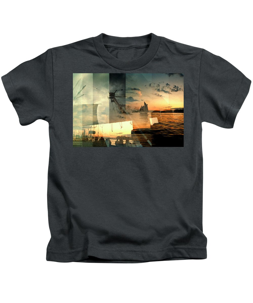 Seascape Kids T-Shirt featuring the photograph Nyc Harbor by John Emilson