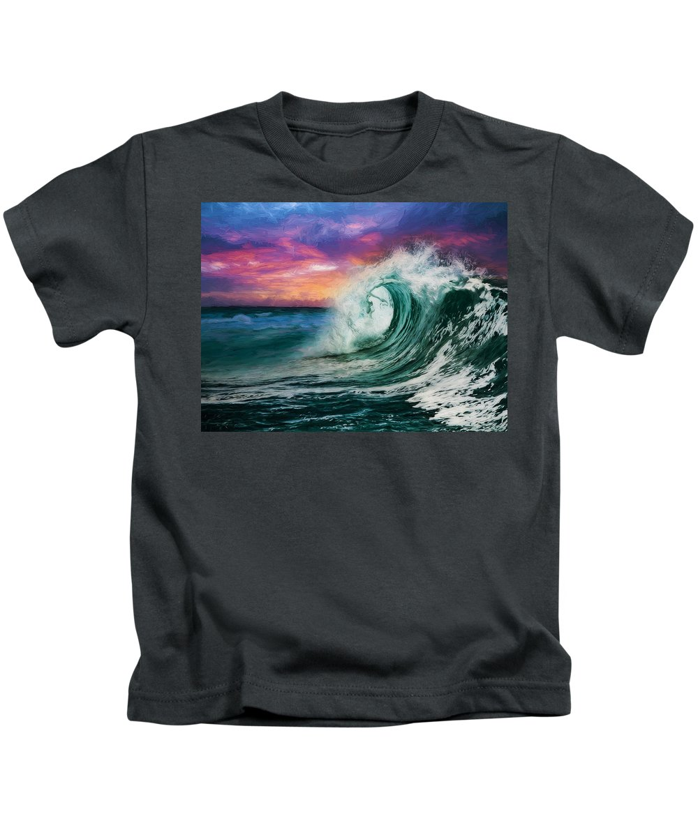 Abstract Kids T-Shirt featuring the digital art Observing The Profound Vista by Don DePaola