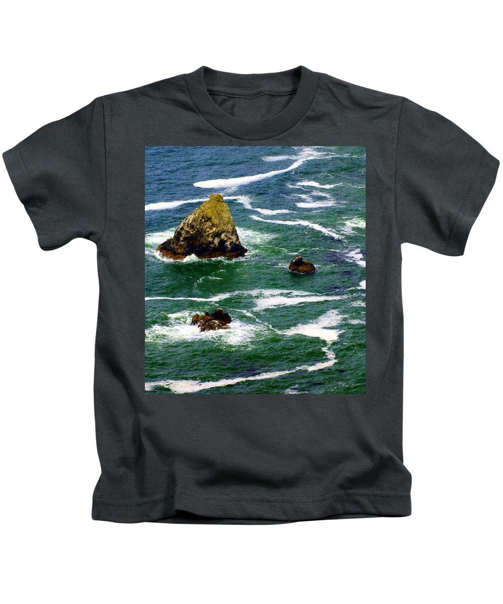 Ocean Kids T-Shirt featuring the photograph Ocean Rock by Marty Koch