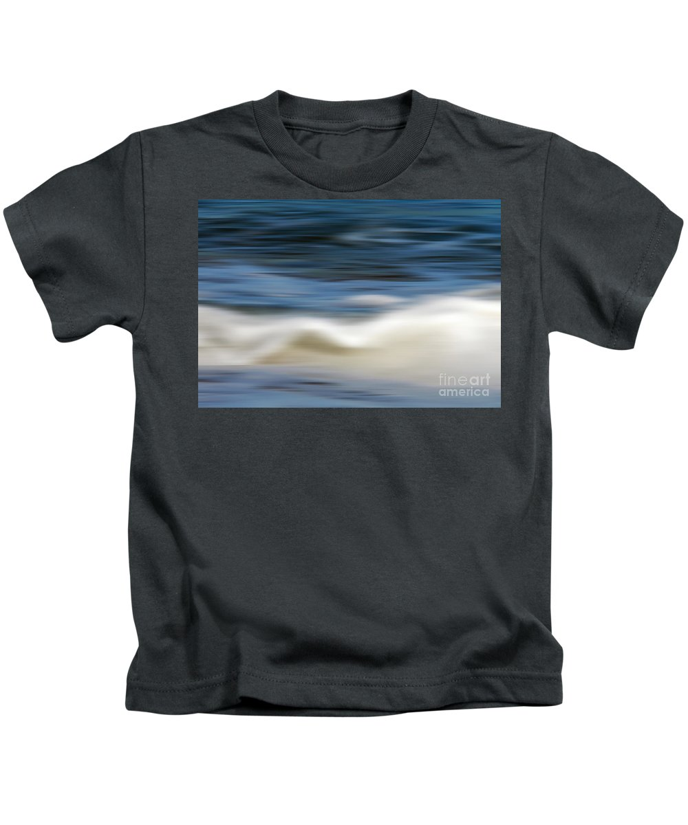 Photography Kids T-Shirt featuring the photograph Ocean Stretch - Abstract by Kaye Menner