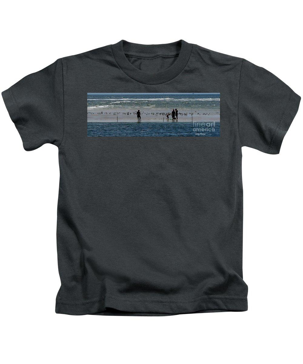 Atlantic Ocean Kids T-Shirt featuring the photograph Ocean Way by Greg Patzer