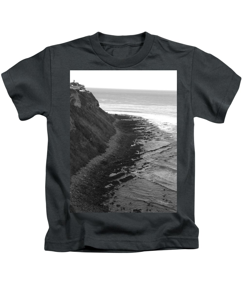 Beaches Kids T-Shirt featuring the photograph Oceans Edge by Shari Chavira