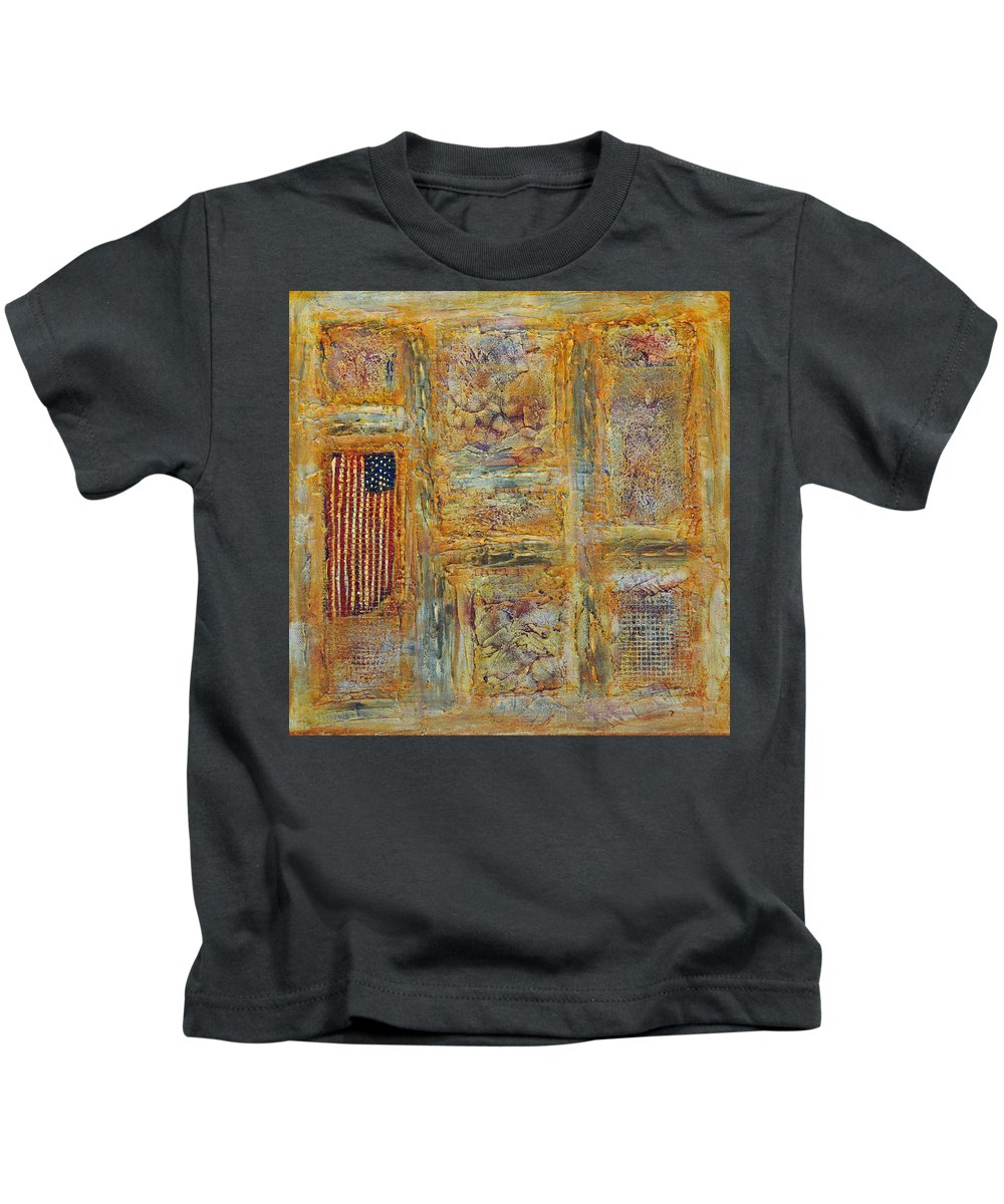 Acrylic Kids T-Shirt featuring the painting Oh Say by Jim Benest