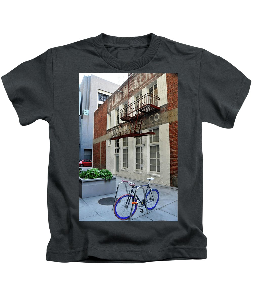 San Francisco Kids T-Shirt featuring the photograph Old And New by Amy Dooley