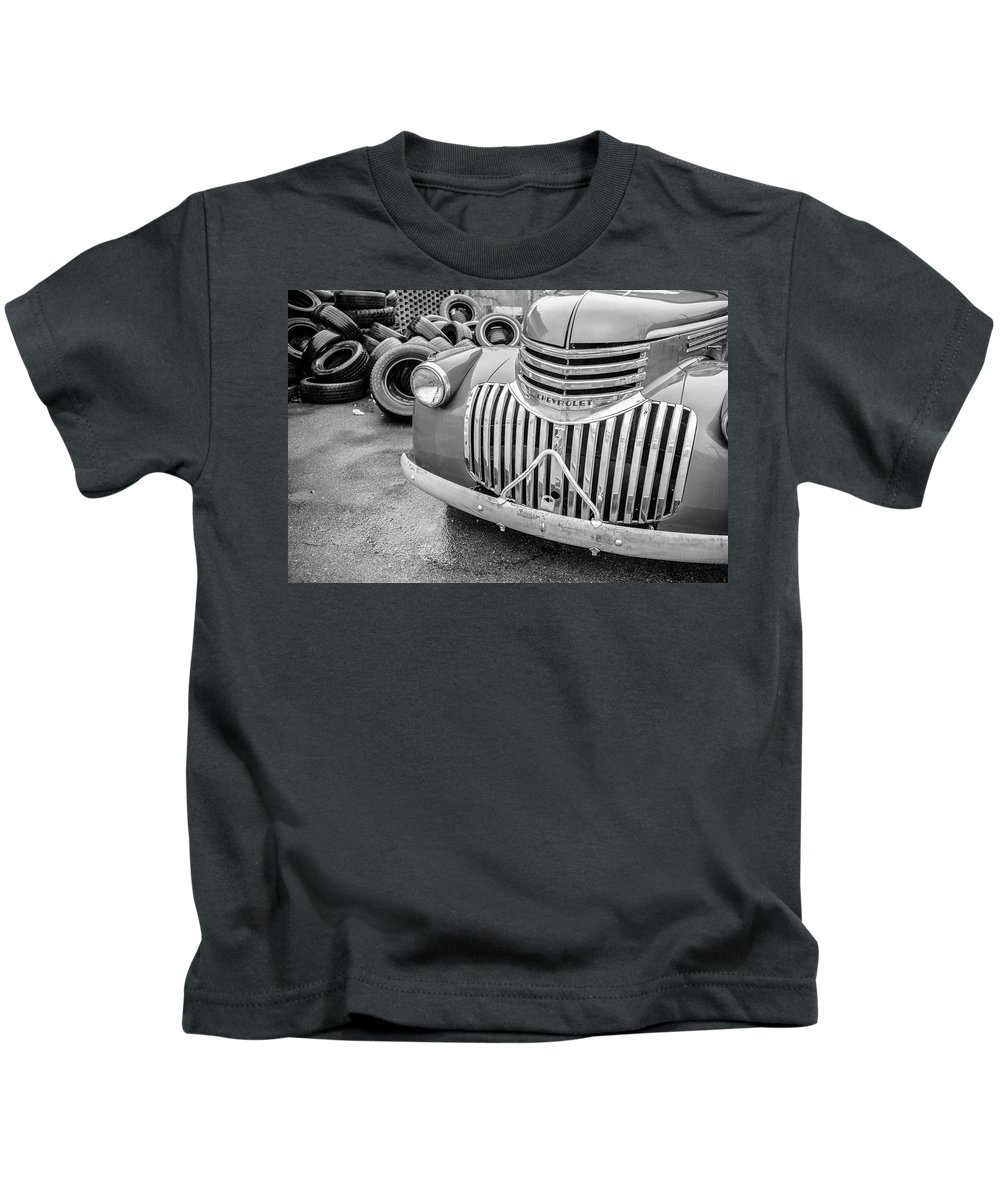 Chevy Kids T-Shirt featuring the photograph Old Chevy Pickup by Jim Love