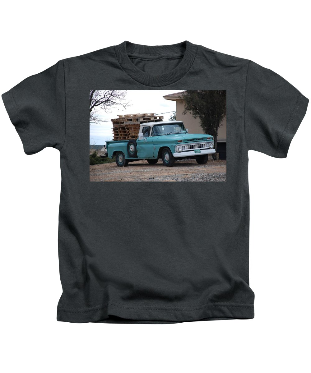 Old Truck Kids T-Shirt featuring the photograph Old Chevy by Rob Hans