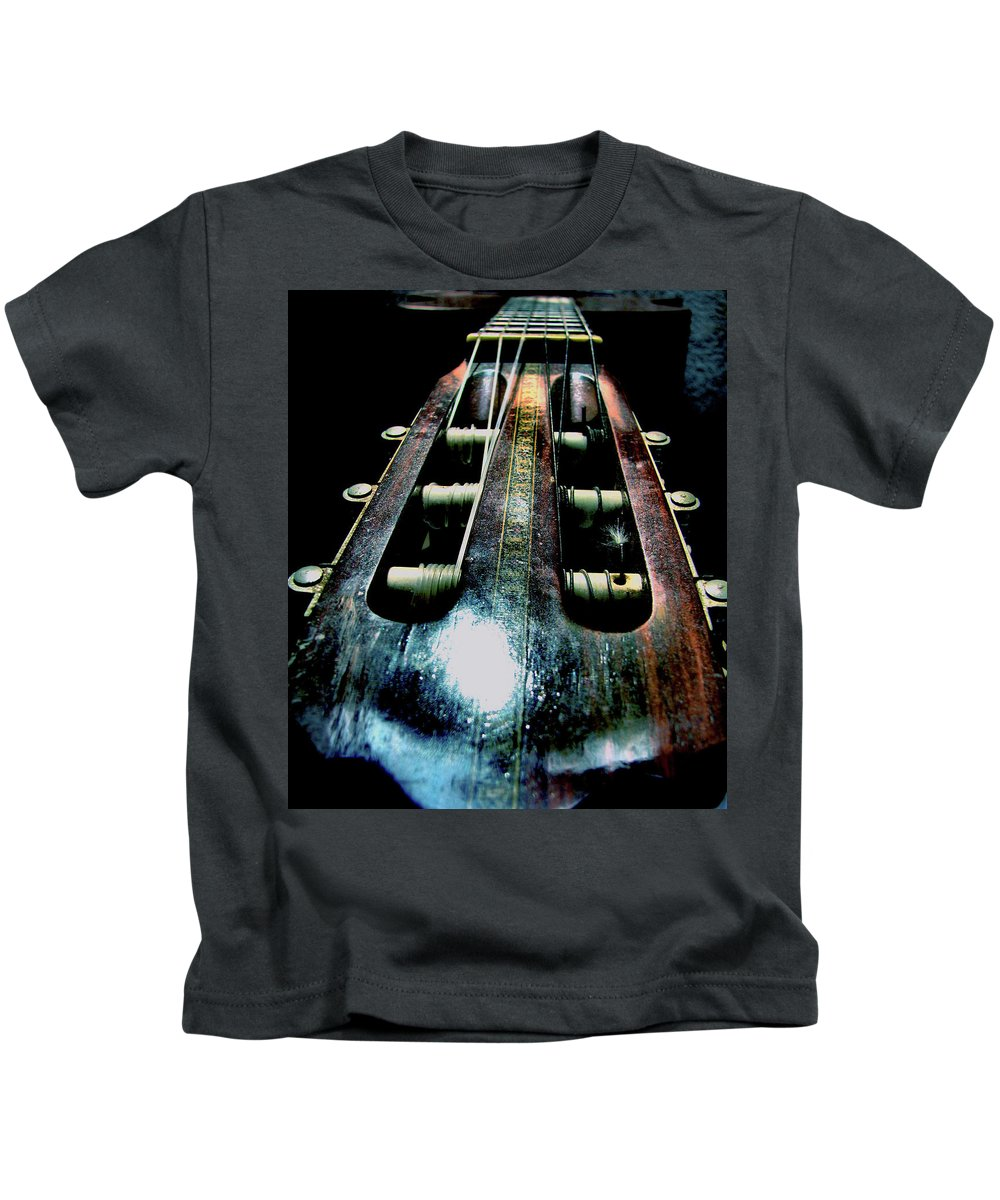 Guitar Kids T-Shirt featuring the photograph Old Companion by Rory Siegel
