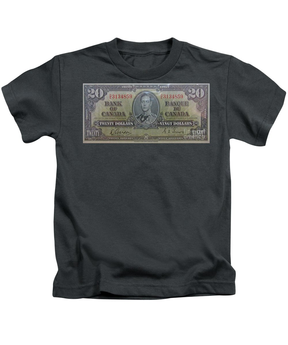 Old Currency Kids T-Shirt featuring the photograph Old Currency by John Malone