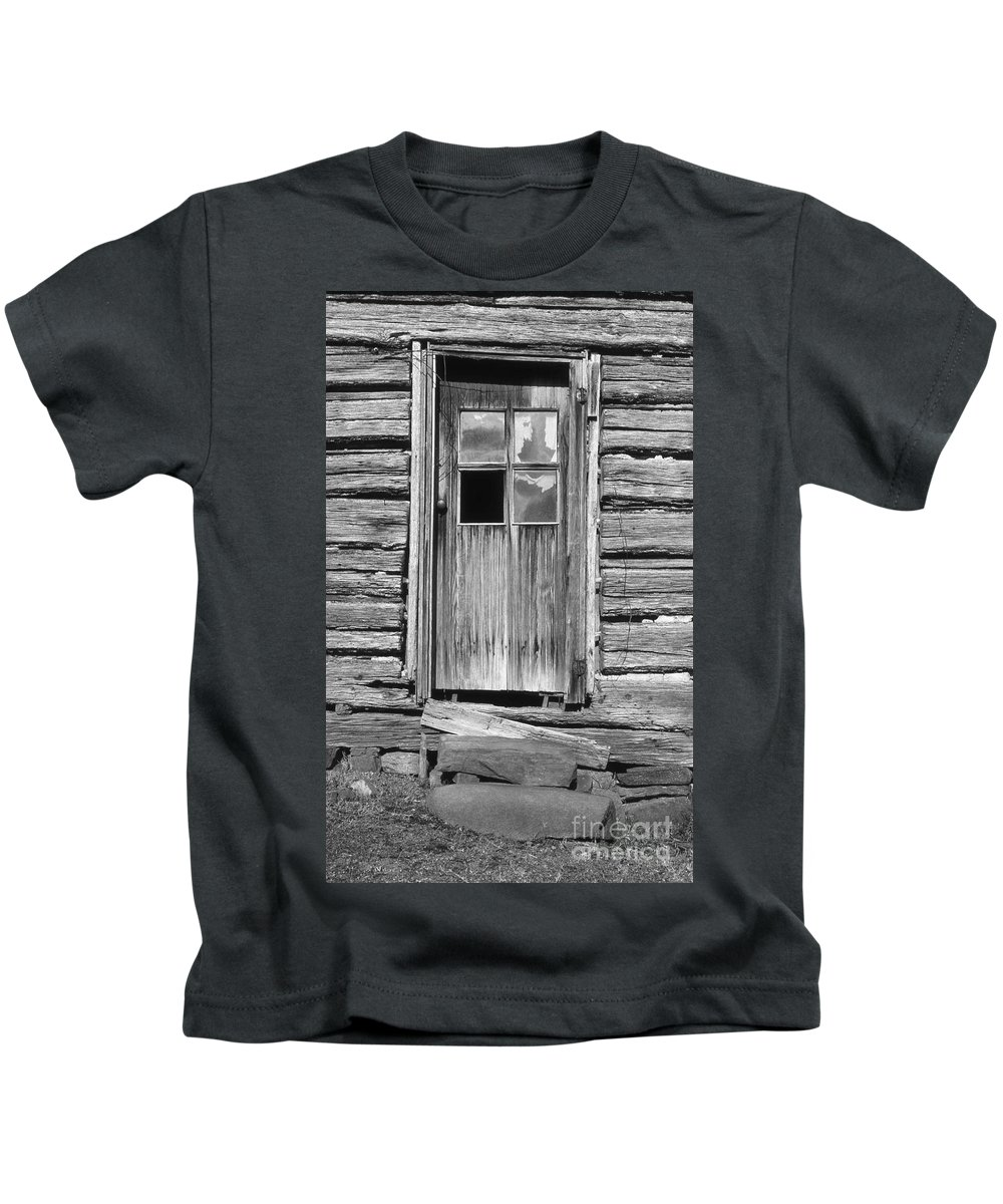 Aged Kids T-Shirt featuring the photograph Old Door by Richard Rizzo