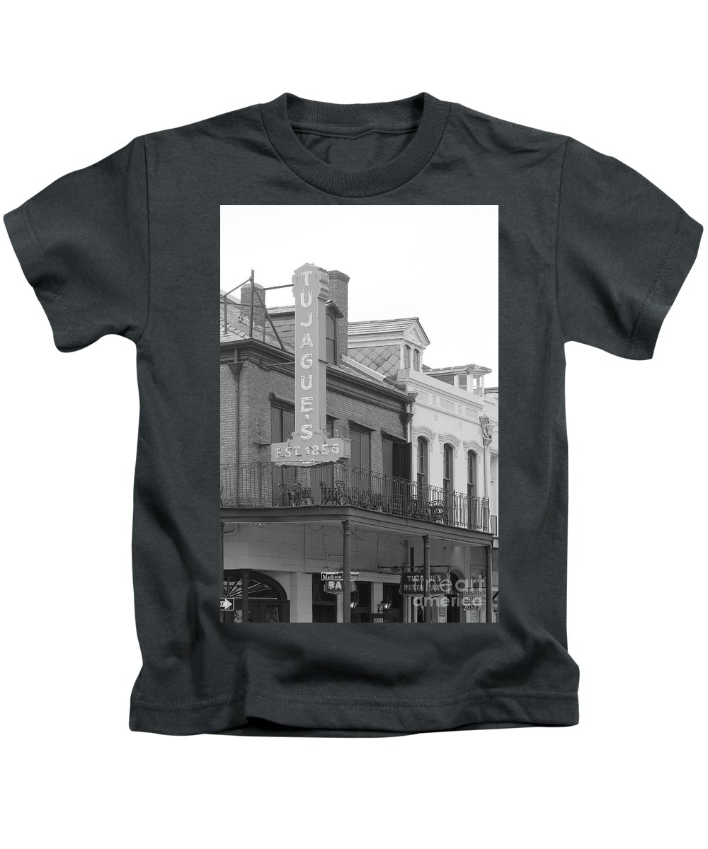 Art Kids T-Shirt featuring the photograph Old French Quarter Restaurant by Michelle Powell