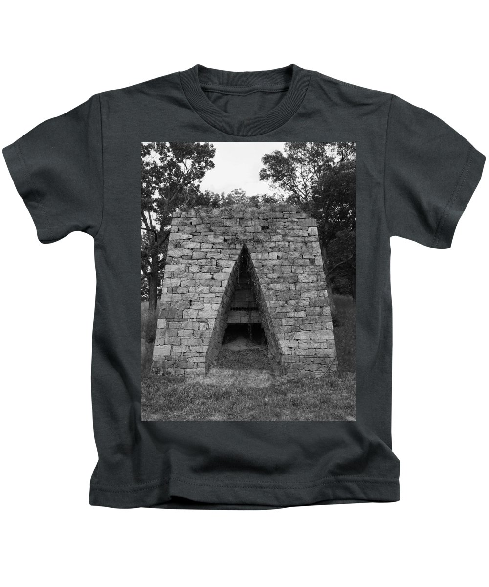 Furnace Kids T-Shirt featuring the photograph Old Furnace by Eric Liller