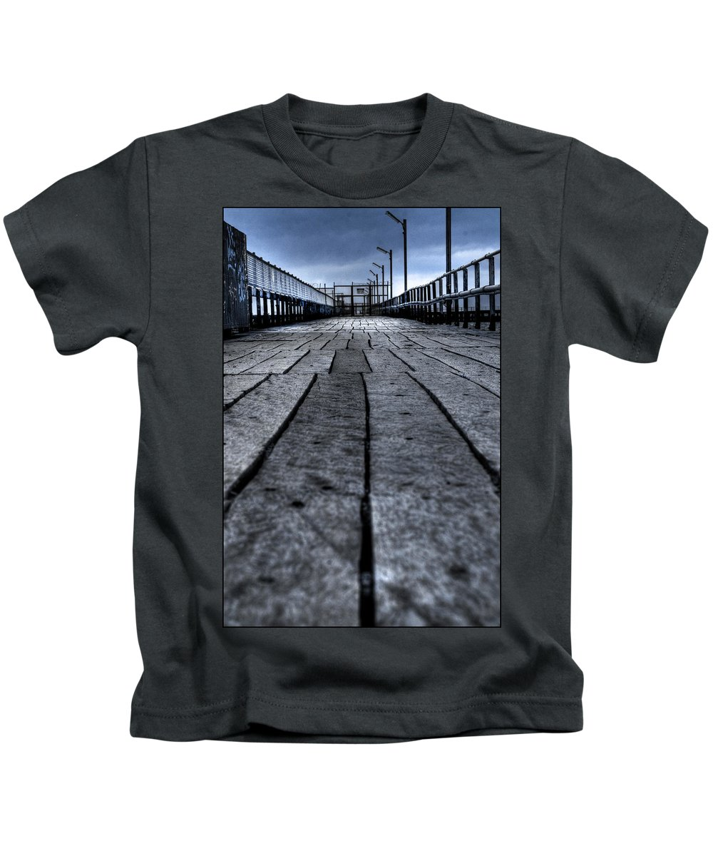 Jetty Kids T-Shirt featuring the photograph Old Jetty 2 by Kelly Jade King