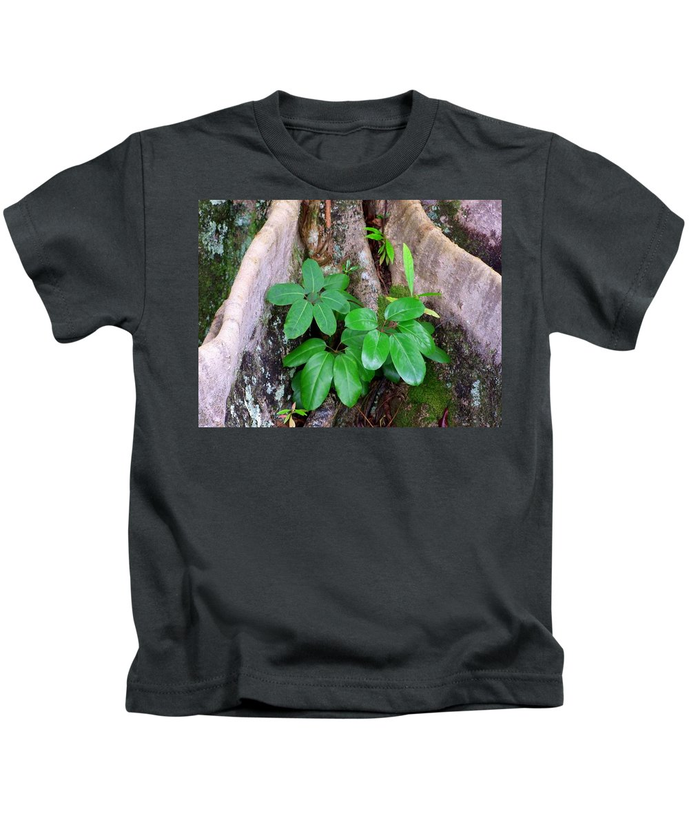 Green Kids T-Shirt featuring the photograph Old Life New Life by Mary Deal