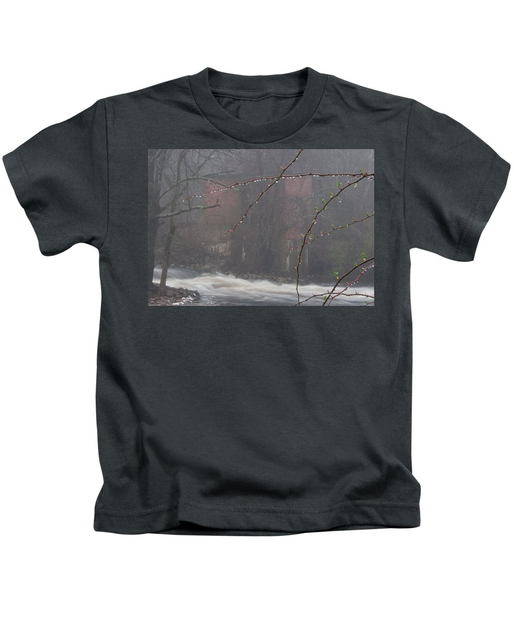 Photography Kids T-Shirt featuring the photograph Old Mill by Steven Natanson