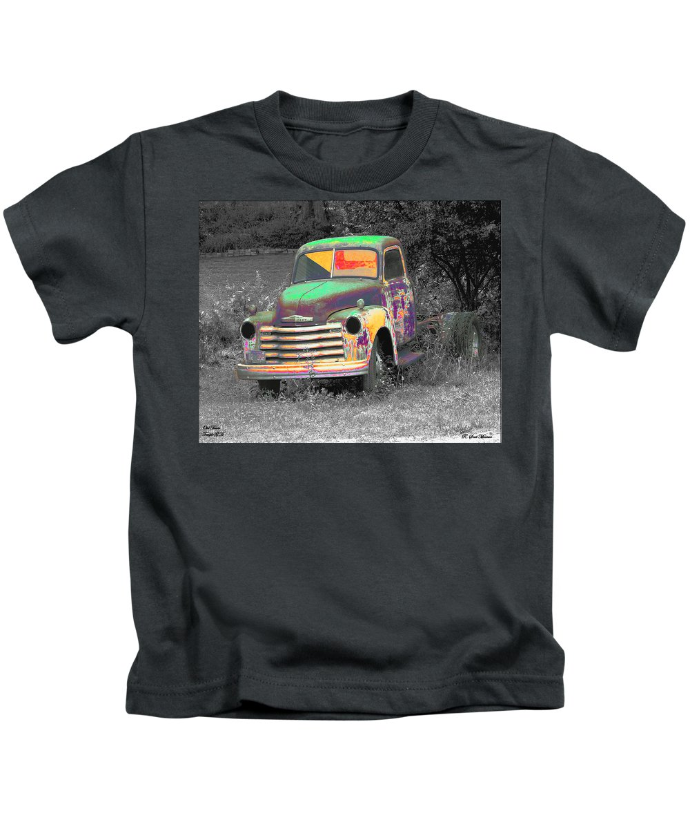 Car Kids T-Shirt featuring the digital art Old Timer by Robert Meanor