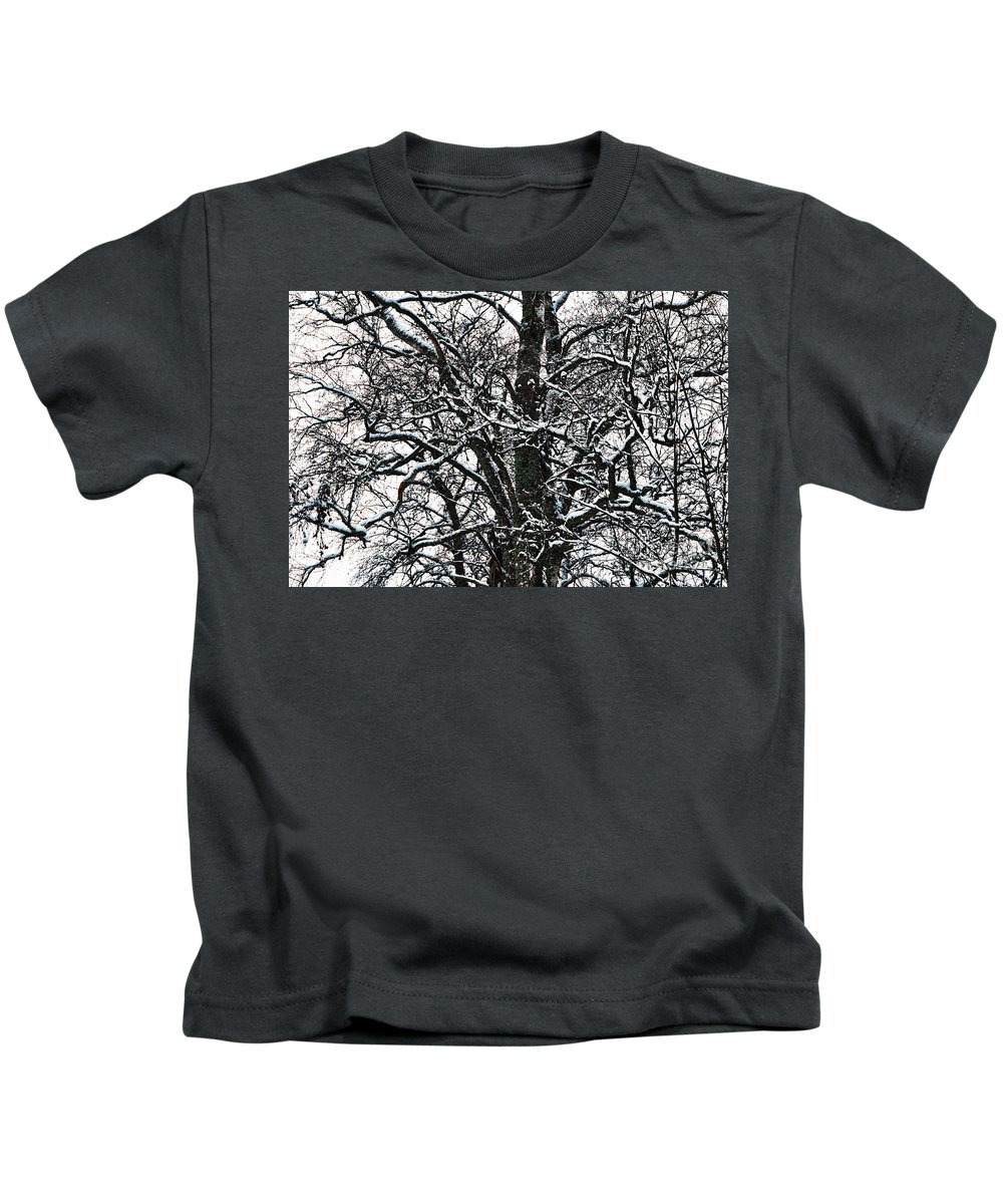 Birch Kids T-Shirt featuring the photograph Old Tree 5 by Esko Lindell