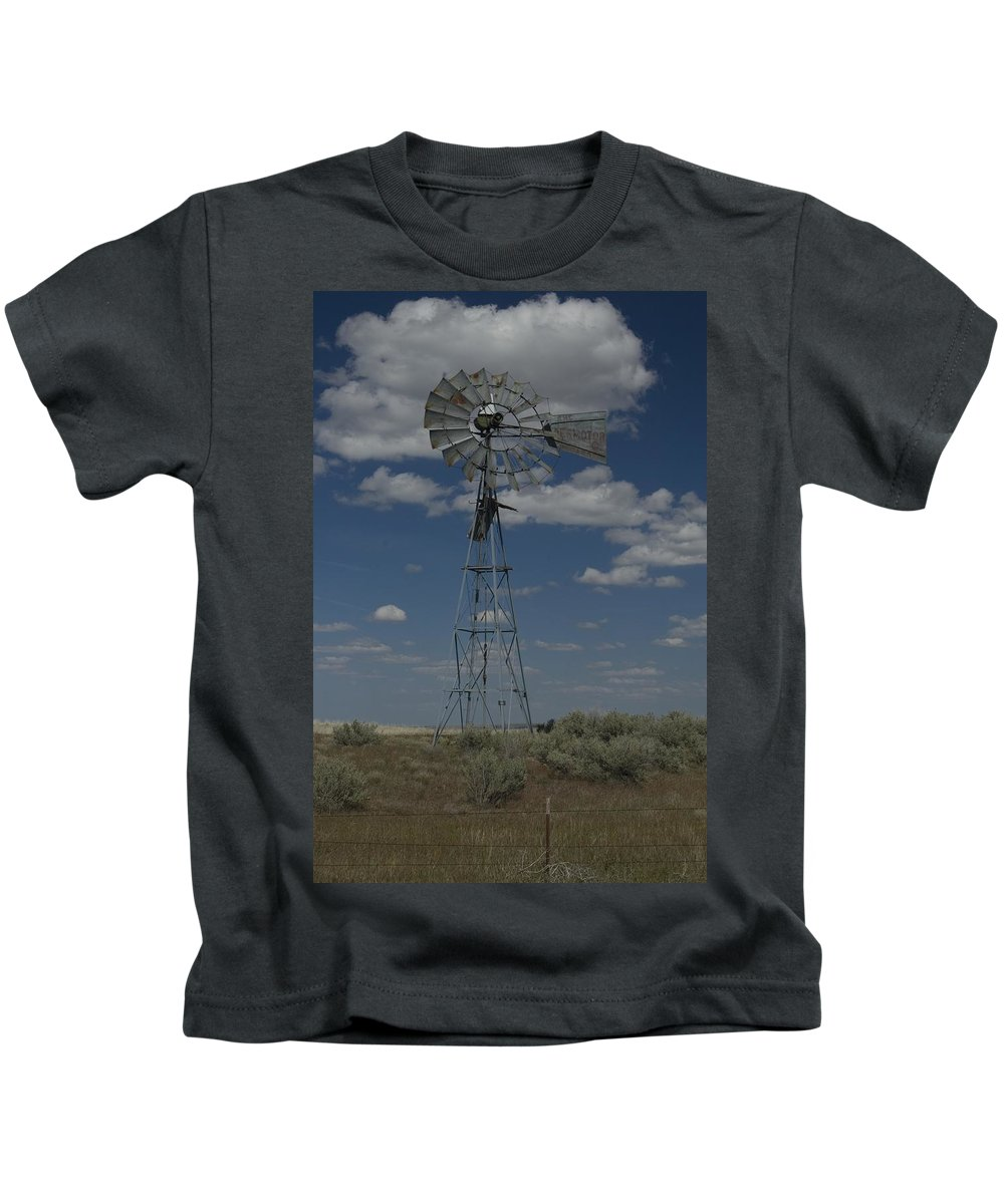 Windmill Kids T-Shirt featuring the photograph Old Windmill 2 by Sara Stevenson