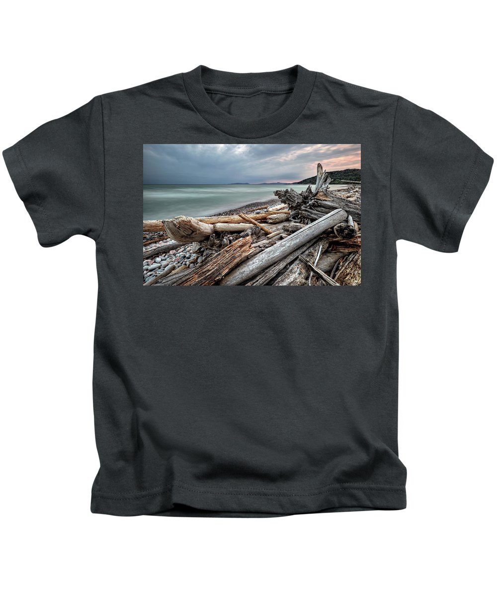 Beach Kids T-Shirt featuring the photograph On The Beach by Doug Gibbons