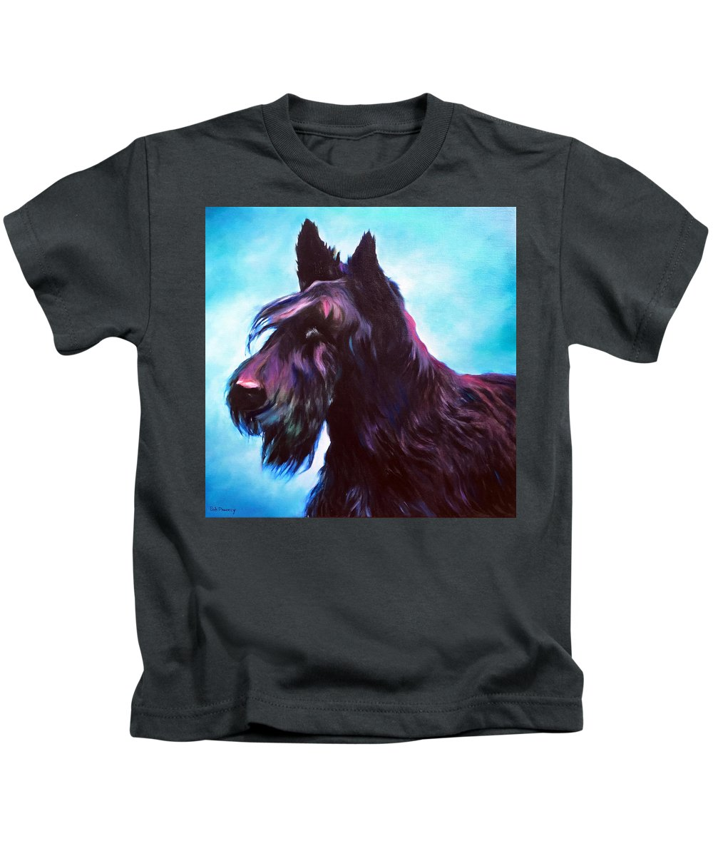 Terrier Kids T-Shirt featuring the painting Once A Terrier Always A Terrier by Robert Pankey