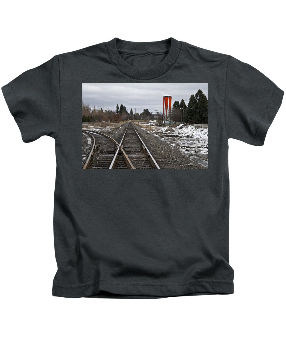 Monotone Kids T-Shirt featuring the photograph One Drop Of Color 4 by Angus Hooper Iii