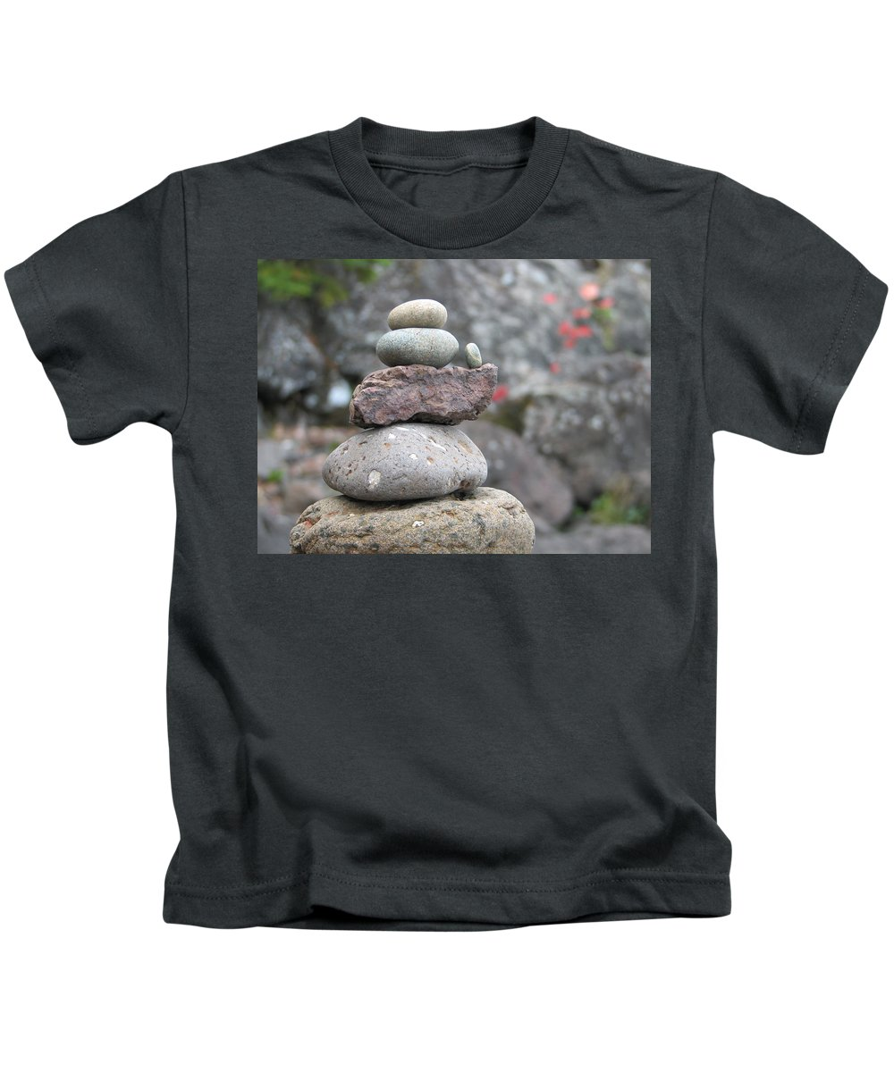 Rocks Kids T-Shirt featuring the photograph One More by Kelly Mezzapelle