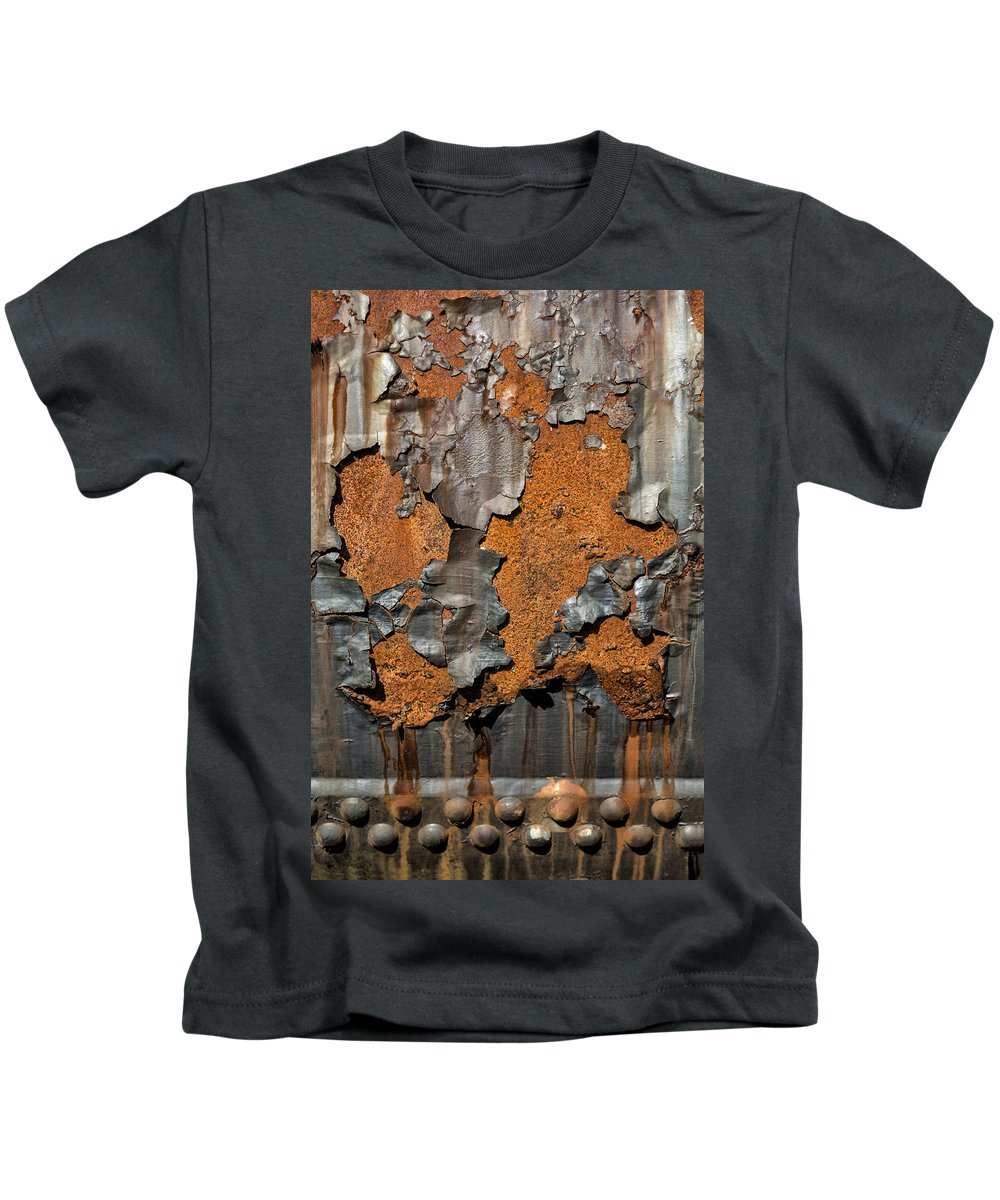 Abstract Kids T-Shirt featuring the photograph Orange Decay by Russ Dixon