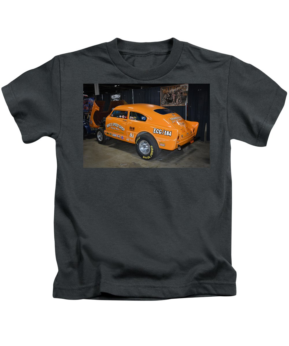 Orange Kids T-Shirt featuring the photograph Orange Gasser by Mike Martin
