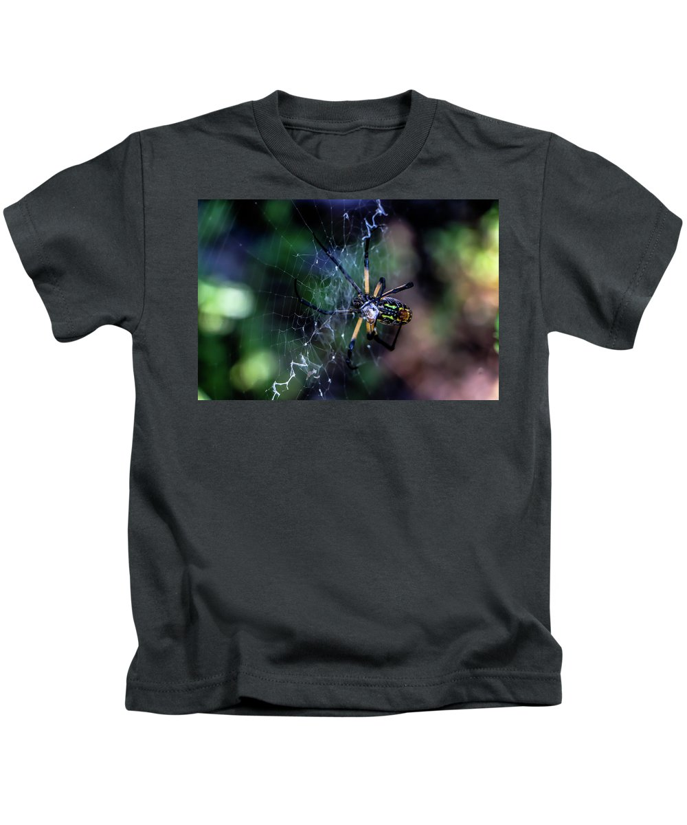 Spider Kids T-Shirt featuring the photograph Orb Weaver by Chaznik Raab