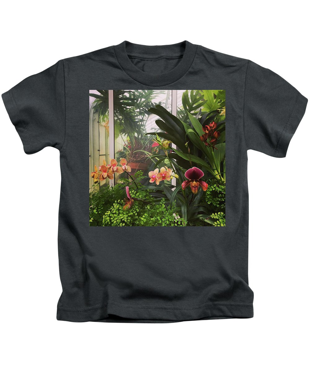 Orchids Kids T-Shirt featuring the photograph Orchids by Kory Olson