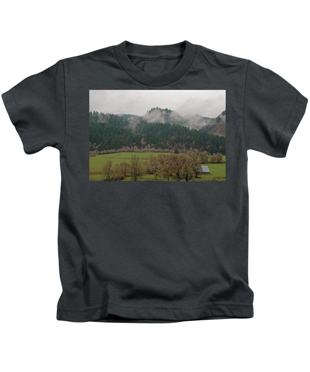 Oregon Kids T-Shirt featuring the photograph Oregon Countryside by Carol Eliassen