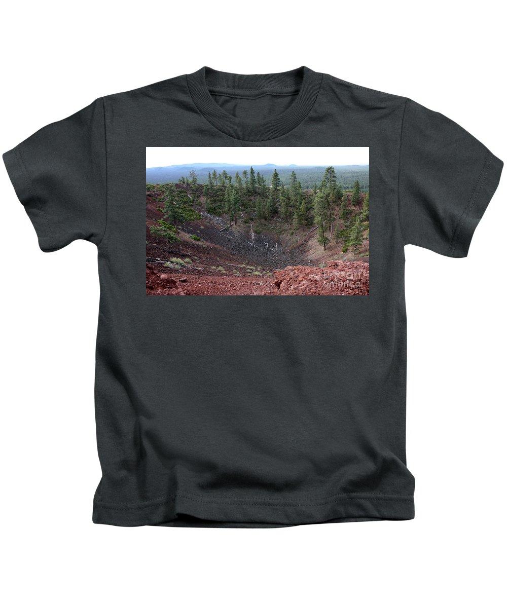 Oregon Kids T-Shirt featuring the photograph Oregon Landscape - Crater At Lava Butte by Carol Groenen