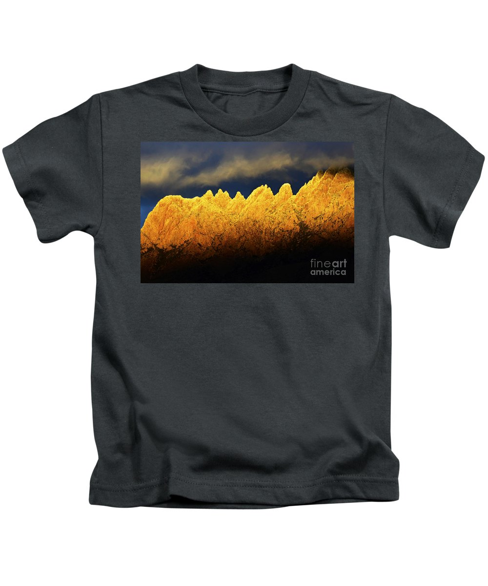 Organ Mountain Kids T-Shirt featuring the photograph Organ Mountains Land Of Enchantment 1 by Bob Christopher